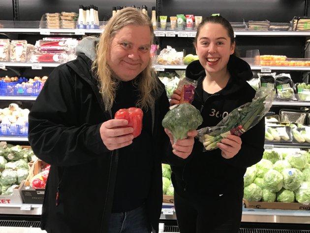 SUNN JAKT: Frode Hermanrud i OA sammen med 360 grader treningssenters ernæringsrådgiver Ida Marie Hesjadalen.