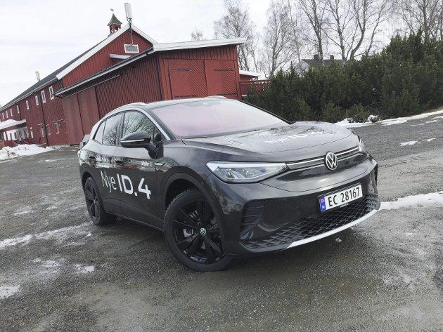HAR ALT MED SEG: Varemerket, prisen, utstyret og den elektriske kapasiteten – alt taler for at el-SUVen Volkswagen ID.4 lander høyt opp på listene når det norske bilsalget skal gjøres opp for i år.FOTO: ØYVIN SØRAA