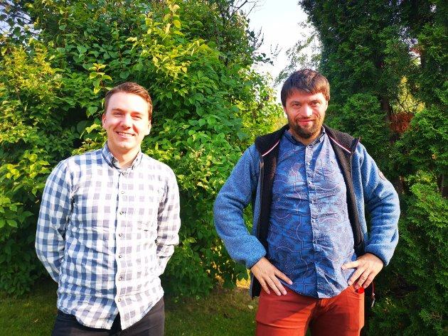 Hans Kristian Enge, gruppeleder (Ap) og Even Eriksen, nestleder i utvalg for utdanning (Ap)