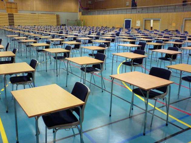 Illustrasjonsfoto av eksamenslokale