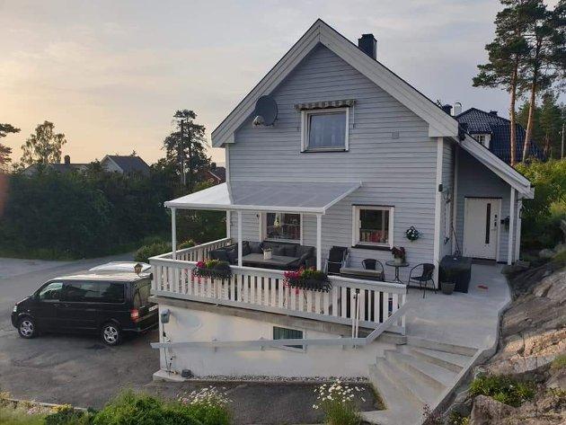 FØR REHABILITERING: Slik så huset i Utsiktsveien ut før rehabiliteringen startet.
