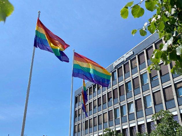 DEBATT: Debatten om bruk av flagget fortsetter i Larvik.