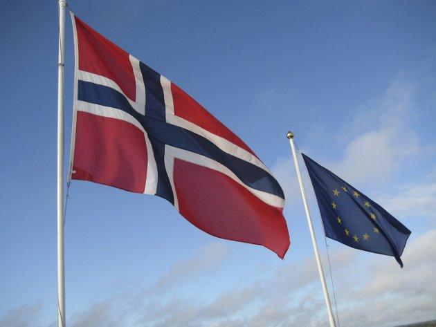 KOMPROMISS: Den nye regjeringen har samlet seg rundt et kompromiss om forholdet til EU. Arkivfoto: Bjørn-Frode Løvlund