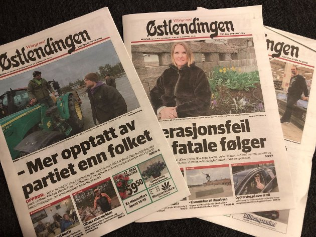 PAPIRAVISA: Papirlesingen faller mer enn tidligere, viser de ferske lesertallene fra Mediebedriftenes Landsforening. Men bruken av norske aviser er rekordhøy.