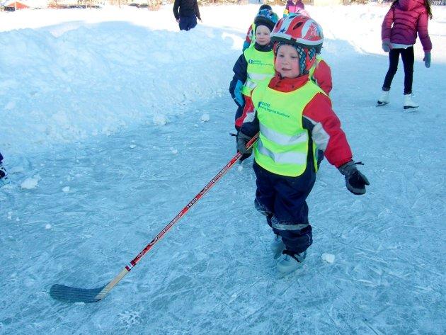 2010: Barn fra Musikktrollet barnehage på skøyteisen.