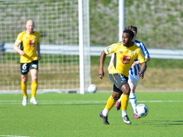 Stålkam - Skjervøy 0-3, 10. mai 2018. Sveitsiske Evan Melo fikk en god halvtime, men det var den halvtimen laget var dårligst.