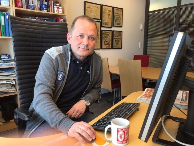 Steinulf Henriksen, leder i Nordnorsk Redaktørforening.