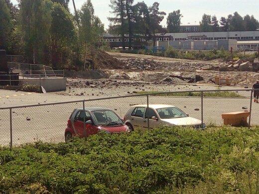 I forbindelse med arbeidene med nytt vannverk i Moelv skal sprengningsulykken ved Saqtema og gjenvinningsstasjonen skjedd.