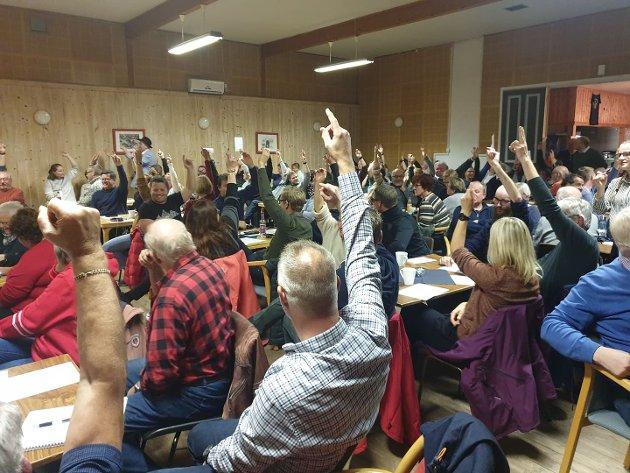 AVGJØRENDE MØTE: Medlemsmøtet i Ringsaker Arbeiderparti avgjorde den fremtidige skolestrukturen i Nordre Ringsaker med sitt vedtak mandag. Onsdag ble saken endelig banket gjennom i kommunestyret.