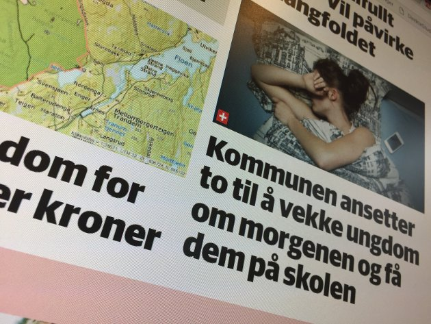 Provoserende: Innsenderen er kritisk til RBs vinkling av saken om Sørum kommunes ønske om å ansette ungdomsloser for å hjelpe skoleungdom som sliter.