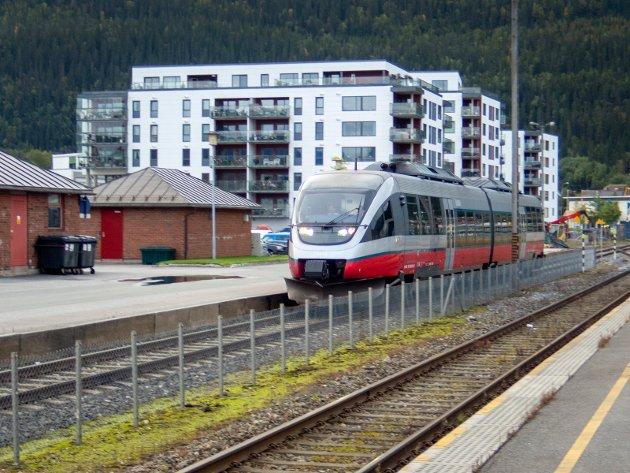 Mo i Rana  20180917. Nordlandsbanen. Togstasjonen i Mo i Rana. Foto: Gorm Kallestad / NTB scanpix