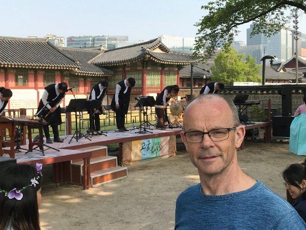 Johannes Morken, busett på Fjellhamar, er her i hovudstaden Seuol i Sør-Korea i 2018.