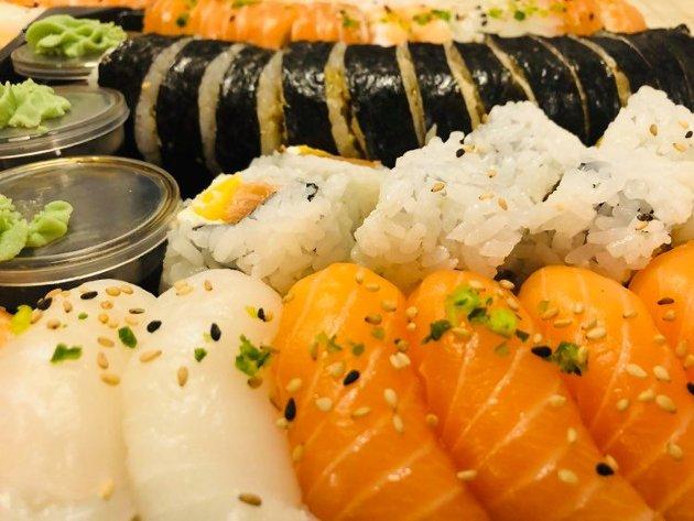 Det finnes god og dårlig sushi. Sushien RBs matanmeldere smakte på Fuji Shushi på Jessheim var definitivt god. Foto: Privat