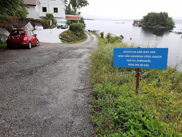 Kyststien mellom Slemmestad og Nærsnes er omdiskutert.