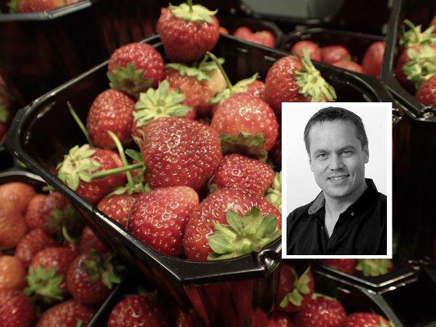 Jordbær er godt - men de skal være uten bismak av dårlig samvittighet, skriver ansvarlig redaktør Steinar Ulrichsen (innfelt) i denne lederen.