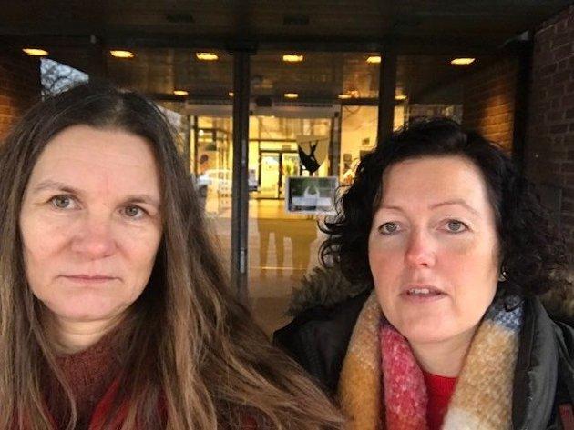 Bilde av Anne Merete Sørensen, Hovedtillitsvalgt Fagforbundet og Laila Mythe, Hovedtillitsvalgte Utdanningsforbundet