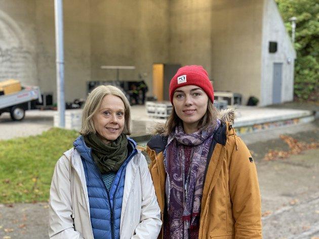 Lena Wegemo og Natalia Cross er begge musikklærere ved Sandnes kulturskole.