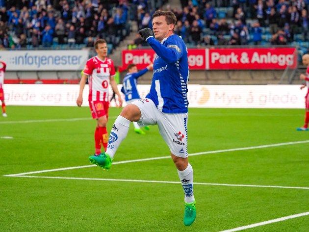 REDDET POENGET: Innbytter Erton Fejzullahu reddet ett poeng for Sarpsborg 08 i kveld.
