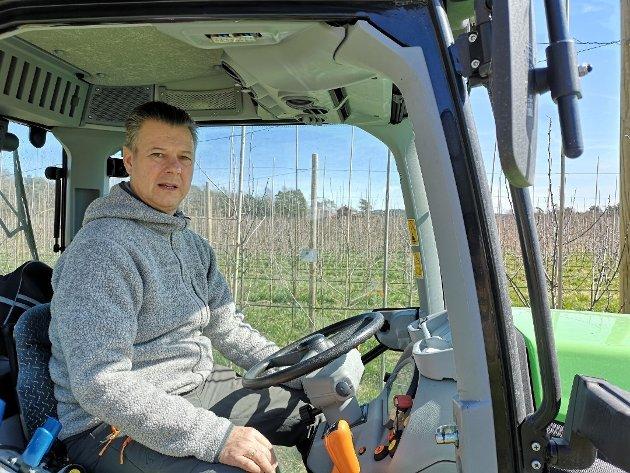 Hans Solberg, leder i Sarpsborg bondelag. (Foto: Anna Solberg)