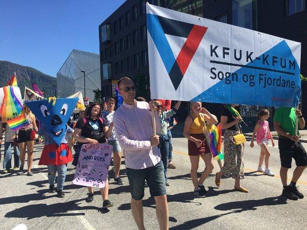 DIGITALT: I år blir det ikkje opptog med faner, men ei digital markering av Pride i Sogn og Fjordane.