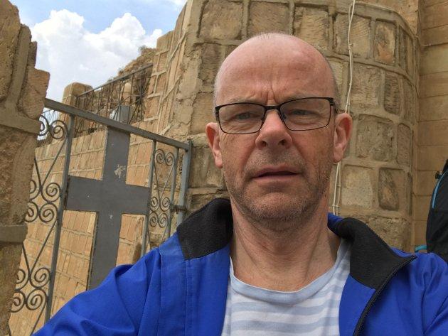 Johannes Morken, opphavleg frå Indre Hafslo i Luster, på klosteret Mar Mattai i Irak.