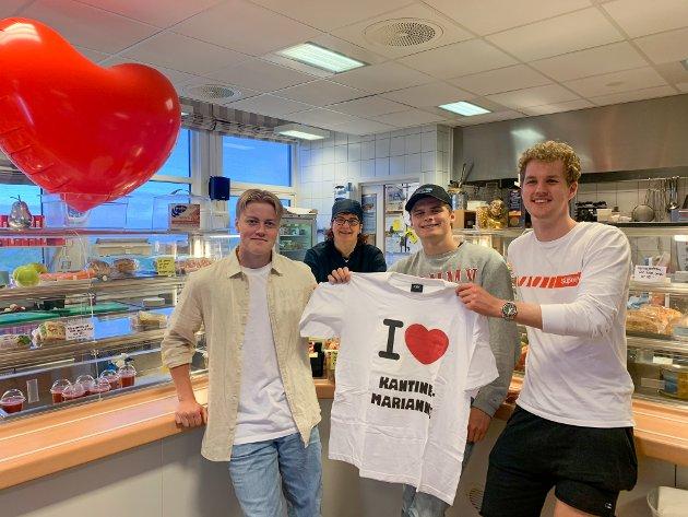 Det gjør meg glad å se bilder av elever med t-skjorter og ballonger hvor de krever å beholde kantinedama Marianne, skriver Lene K. Nørbech. nestleder Fagforbundets ungdomsutvalg i Møre og Romsdal.