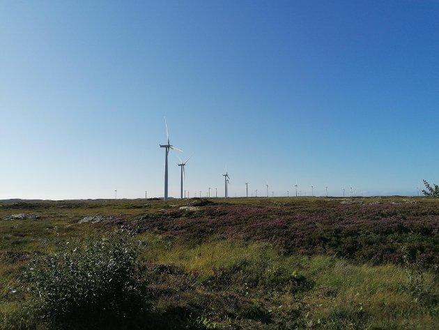 – Der det kan vere aktuelt med vindmøller på land, skal kommunane ha vetorett om Sp får det som vi vil, skriv Kristin Sørheim, Sp. Her Smøla vindpark