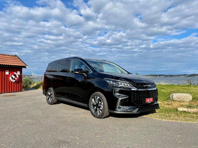 MYE BIL FOR PENGENE: Elektriske Maxus Euniq MPV er en fin familie- og flerbruksbil for deg som ønsker å kjøre miljøvennlig og økonomisk.