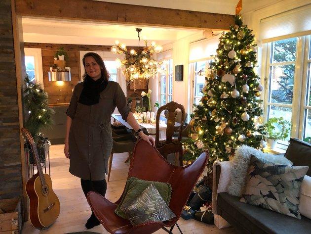 Åpnet opp: Kristin har flyttet kjøkkenet, og åpnet opp mellom stue og kjøkken.