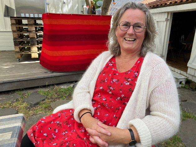 Hovedpersonen: Hilde Eskild gledet seg til å fortelle sin historie til barna.