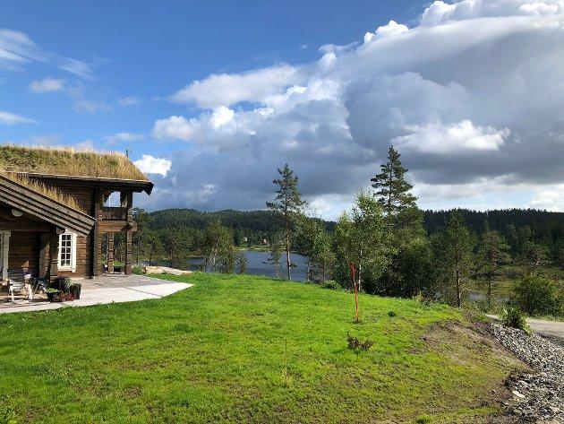 Vegervann: De nyeste boligene som settes opp langs gamle Heiveien innenfor Øytjenn har utsikt mot Vegervann ved Vegerstøl.