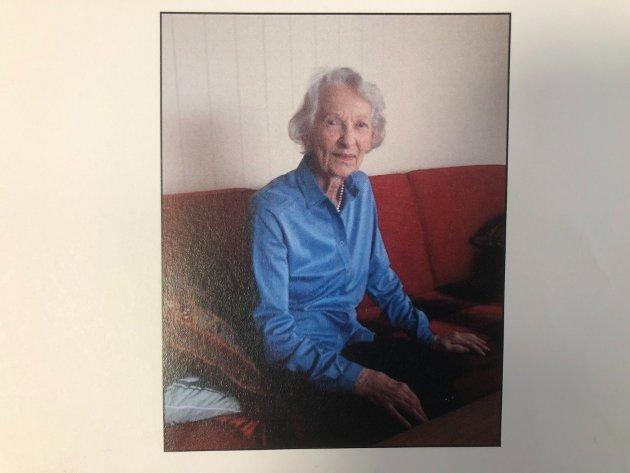 Margit Heimnes bodde på Nes Verk i mange år. Hun døde 2. mai, nesten 95 år gammel. Privat foto