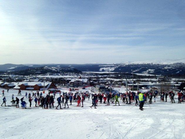 667 skiløpere var påmeldt Valdresmarsjen.
