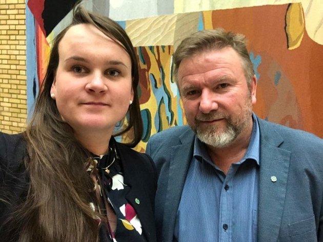 Marit K. Strand og Bengt Fasteraune, stortingsrepresentanter Senterpartiet