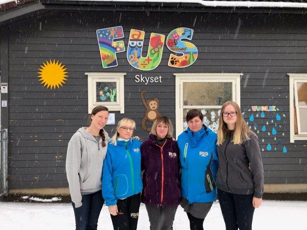 Sissel, Dorota, Kari-Mette, Tina og Hege