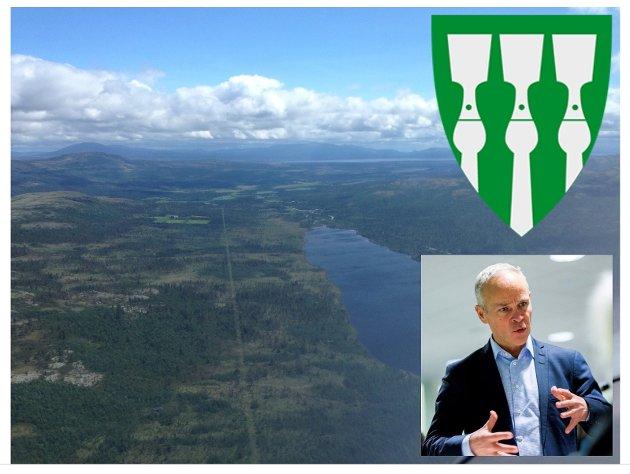 Kommuner i fjellregionen slik som Os, her med Siksjøen og Tufsingdalen, og Hedmark fylke er av truede arter med en kommunalminister som måler egen suksess i hvor mange regional- og lokaldemokratiske enheter han kan bli kvitt