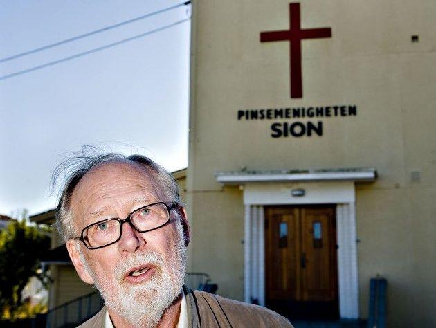 Levi Fragell er opprinnelig fra Selbak. Bildet er fra en reportasje i 2010 da han fortalte om hvordan barnesinn ble påvirket på Sion, pinsemenighetens lokale der faren var forstander. (Arkivfoto: Erik Hagen)