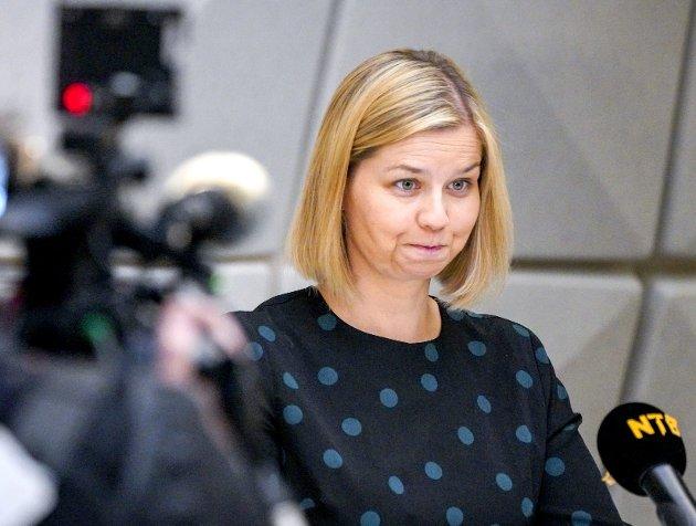 Kunnskapsminister Guri Melby (V) snudde til slutt om muntlig eksamen. Men det tok sin tid og førte til unødvendig mye frustrasjon og spenning blant både elever og skoleansatte. FOTO: NTB