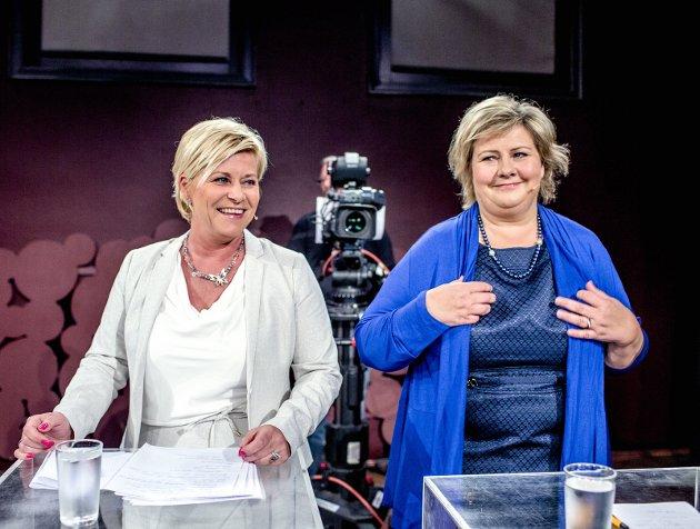 SVEKKES AV FORLIK: Frps Siv Jensen sørger for at Regjeringen og Erna Solberg svekker kommunenes økonomi til helse, skole og eldreomsorg.