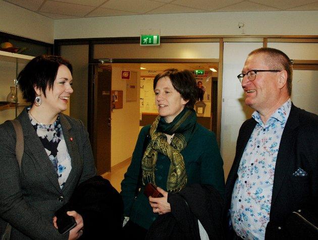 Helse: Åshild Bruun-Gundersen (Frp), Kjersti Toppe (Sp) og Geir Jørgen Bekkevold (KrF) er uenige om psykiatrien.