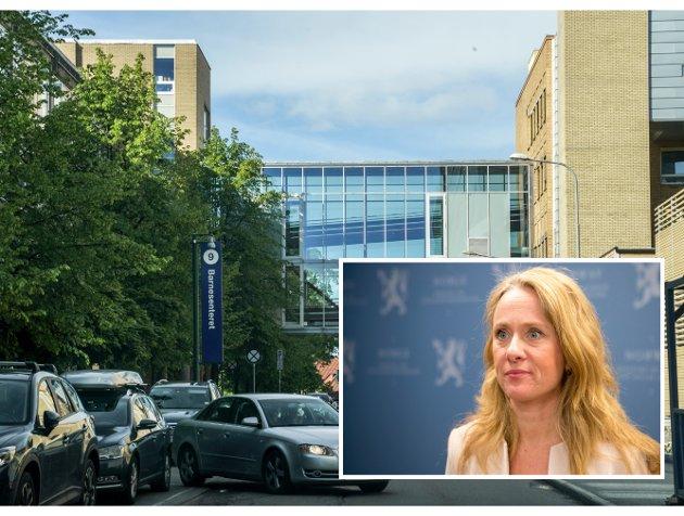 Nemnd: Arbeidsminister Anniken Hauglie( H) gikk arbeidsgivernes ærend ved å vedta tvungen lønnsnemnd.