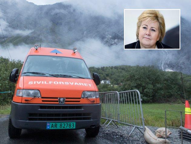 SVIKT: Regjeringen og Erna Solberg bidrar til svekket beredskap i distriktene.
