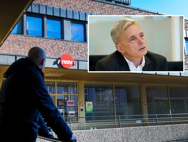Ulikhet: Fylkesmann Knut Storberget påpeker at skillet mellom de som sitter trygt og de som er usikre synes godt.