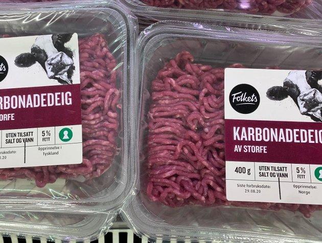 KLISS LIKT: Opprinnelsesmerkingen av matvarer må bli bedre. fOTO: nETTAVISEN