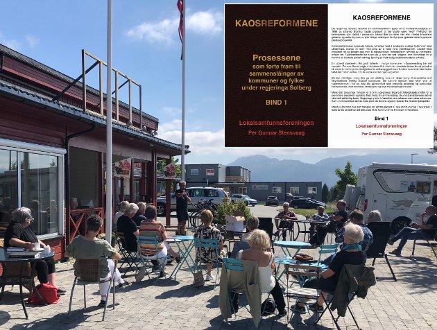 I boka «Kaosreformen» blir det rettet et kritisk blikk på Halsas ferd inn i Heim. Her ved kaféen Mors Gryter på Liabøen sist sommer.