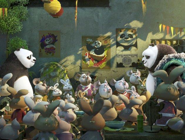 KUNG FUTDATERT: «Kung Fu Panda 3» er en helt okay animasjonsfilm for de minste med mange visuelle godbiter, men evner ikke å matche de mange konkurrentene den deler kinomarked med. FOTO: Dreamworks Animation.