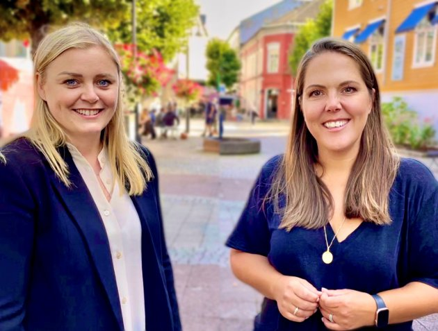 Olje- og energiminster Tina Bru og stortingsrepresentant Lene Westgaard-Halle fra Larvik