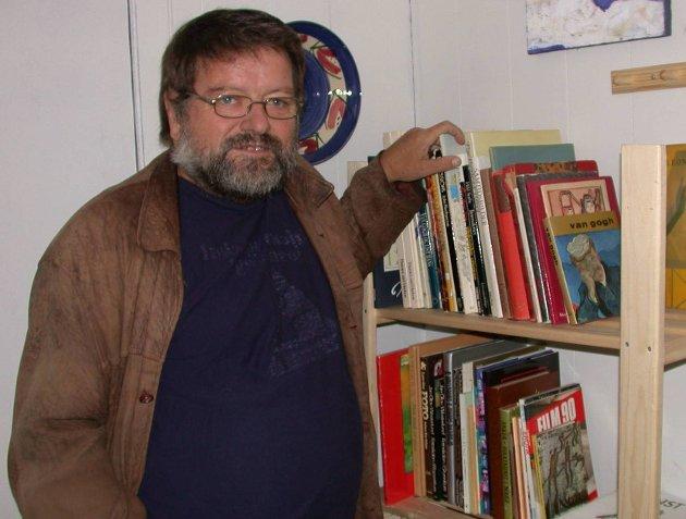 Har gått bort: Sigmund Voll er død. Dette bildet er fra tiden han var i Bokbyen. Arkivfoto