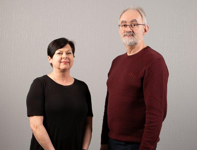 IKKE TIL UTLANDET: Geir Oldeide og Rita Tonning i Raudt vil at oppdraget med å bygge nytt opplærinsfartøu for fylkeskommunen skal gå til eit norsk seksap. Ikkje til utlandet.