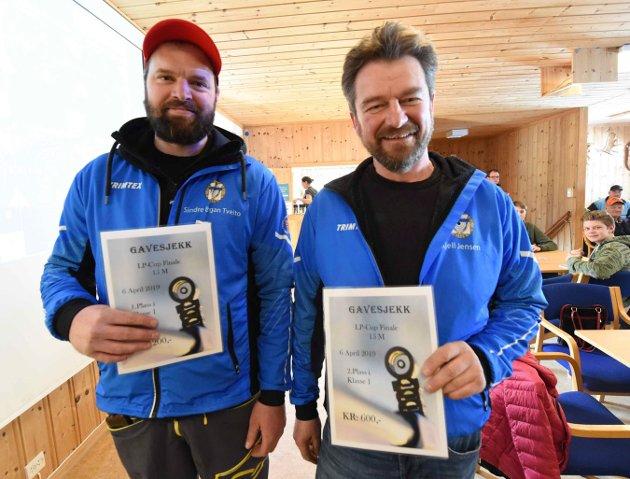 Sindre Bergan Tveito (t.v.) vant klasse 1 foran Kjell Idar jensen.